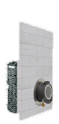 Дровяная печь для бани IKI iki sl с выносной топкой и глухой дверцей