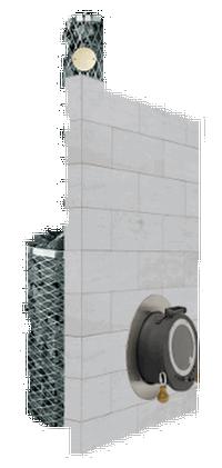 Дровяная печь для бани IKI sl plus с выносной топкой и глухой дверцей