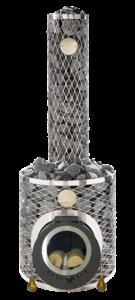 Дровяная печь для бани IKI tunnel plus с выносной топкой (две дверцы)