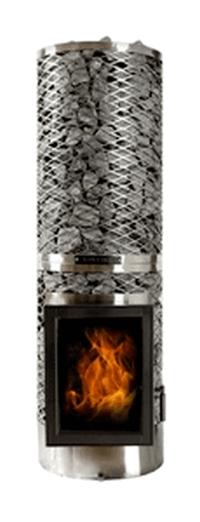 Дровяная печь для бани IKI kivi iki со стеклянной дверцей
