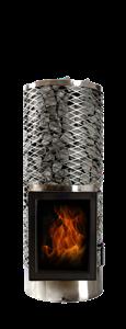 Дровяная печь для бани IKI kivi iki jr со стеклянной дверцей