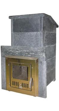 Печь банная КАЛИТА Президент 1100 в талькохлориде, дверь из нерж