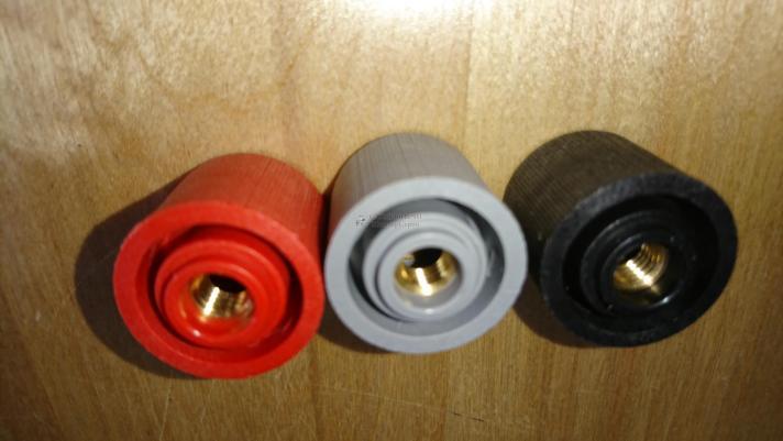 Набор гаек для электродов для c17-c22 HY 13-17 (3 шт: красная, черная, серая), b-2207103