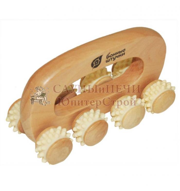 Массажер деревянный универсальный, Вездеход 14*7*9 см   уп15,  , 40054, Банные штучки
