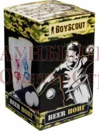 BOYSCOUT Beer - Понг, (в комплекте игровое поле 137x41, 14 пластиковых стаканов, 2 мячика)/12, 61476