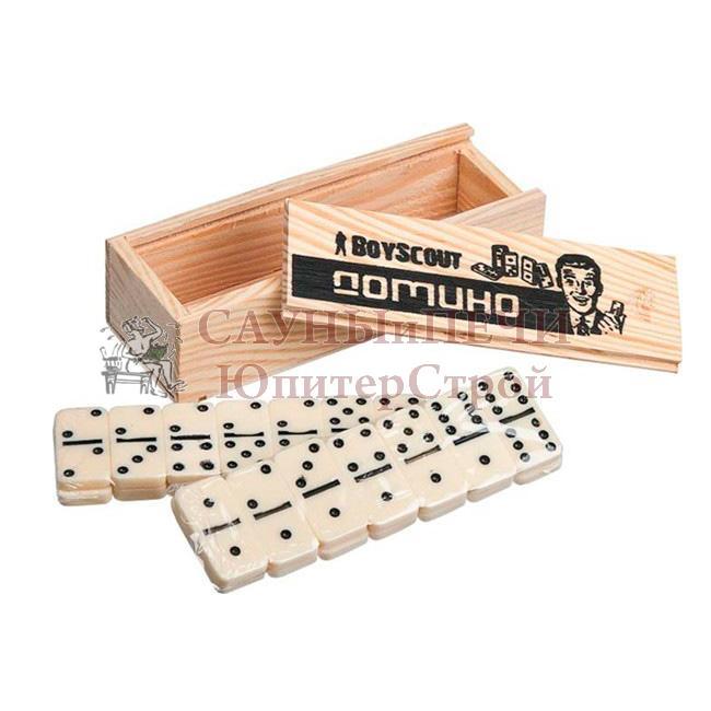 BOYSCOUT Домино в деревянном пенале /24, 61453