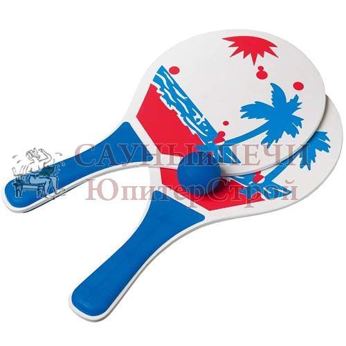 BOYSCOUT Тэннис пляжный (бичбол) 33x18x0,5 см в комплекте с мячиком /24, 61451