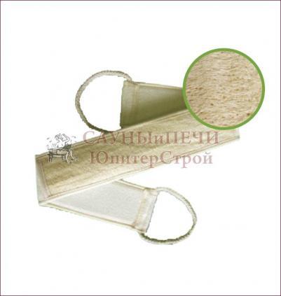 Мочалка из люфы, лента с сегментами, с хлопком   уп30,  , 40007, Банные штучки