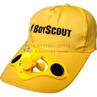 BOYSCOUT Бейсболка с вентилятором на солнечных батарейках/24, 61484
