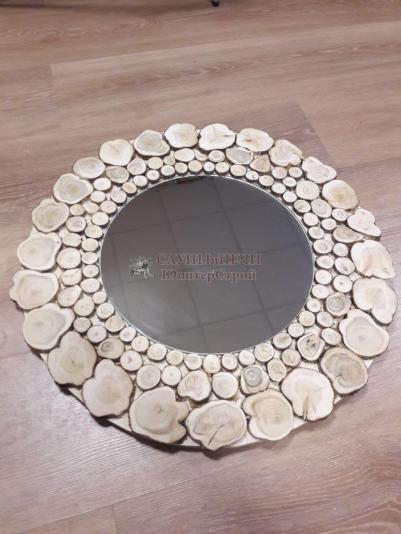 Зеркало круглое Д=50см, рамка можжевельник