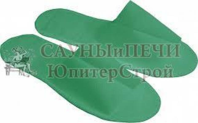 Тапочки одноразовые из спанбонда для бани и сауны Банные штучки зеленые, 32341