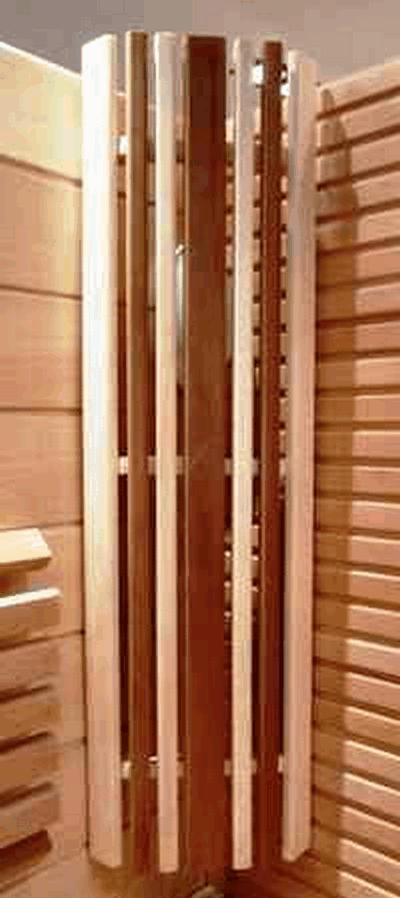 Абажур из осины и термоабаши, длина 1 м, плоск.