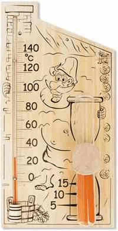 Термометр для сауны БС-2 Банная Станция С часами песочными на 15 минут