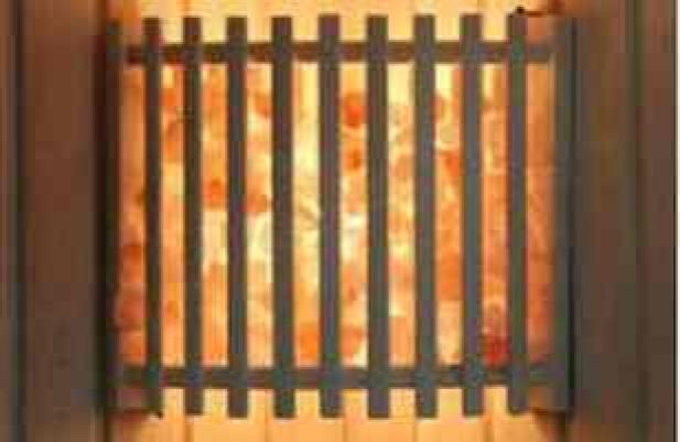 Абажур DW угловой с гималайской солью(АУ-з)