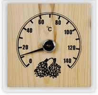 Термометр для сауны для бани ТБС-43 Квадратный