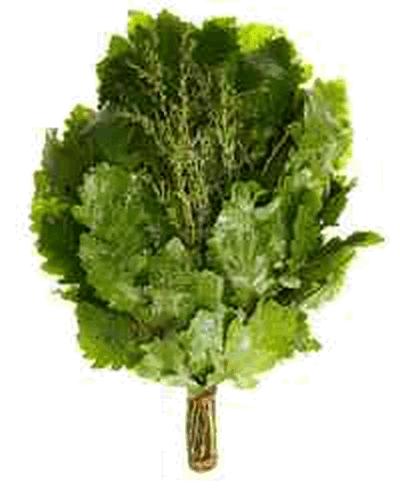 Веник из дуба и полыни (свежемороженный)