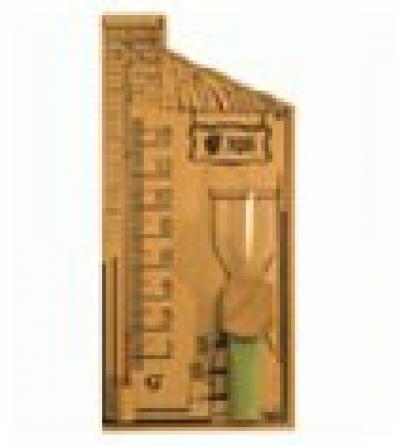Термометр 27,8*14*5,3см с песочными часами  для бани и сауны  уп4,  , 18036, Банные штучки