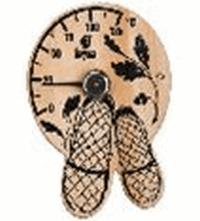 Термометр Лапти 16*17 см для бани и сауны   уп10,  , 18040, Банные штучки