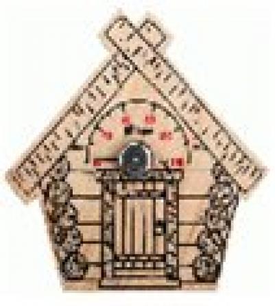 Термометр Парилочка  17*16 см для бани и сауны   уп10,  , 18044, Банные штучки