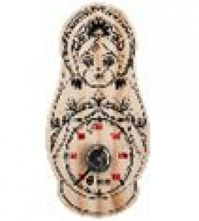 Термометр Матрёшка 9,5*17 см для бани и сауны   уп10,  , 18046, Банные штучки