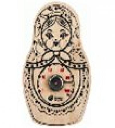 Гигрометр Матрёшка 10,5*16,5 см для бани и сауны   уп10,  , 18047, Банные штучки