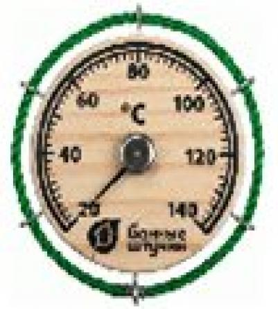 Термометр Штурвал14*14 см для бани и сауны   уп10,  , 18054, Банные штучки