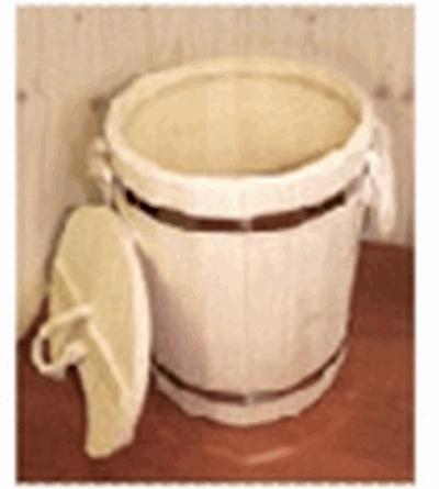 Запарник 9 л. с пластиковой вставкой с крышкой   в кор.уп1,  , 32052, Банные штучки