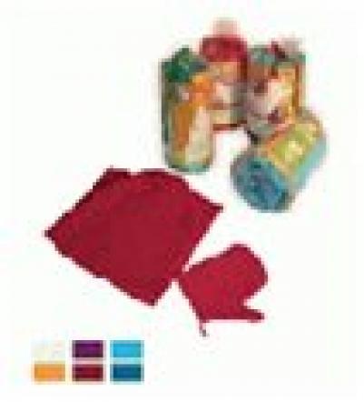 Вафельный комплект для женщин, цветной однотонный   уп18,  , 32062, Банные штучки