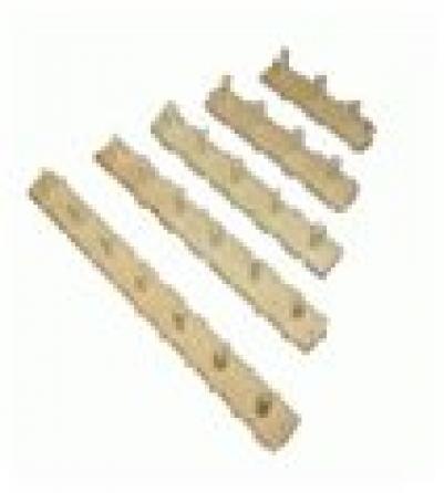 Вешалка 3-х рожковая, липа, 30х7   уп5,  , 32135, Банные штучки