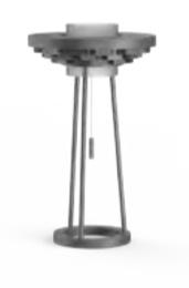 Cariitti Gerbera настольный светильник 250 темный маренго, 1589041, 1589041
