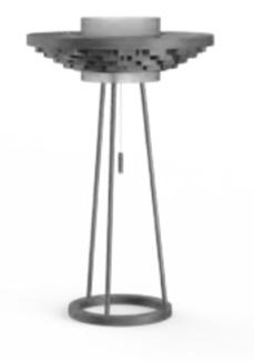 Cariitti Gerbera настольный светильник 350 темный маренго, 1589043, 1589043