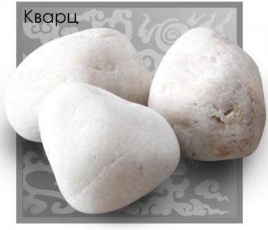 Камни для бани Белый кварц отборный, обвалованный, 20 кг