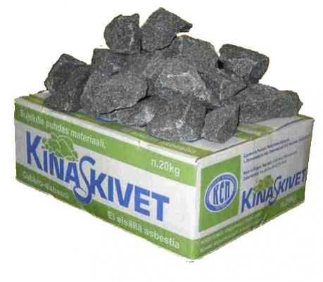 Камни для бани габбро-диабаз 20 кг.