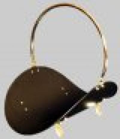 Дровница Н 101 РВS -19 (черная ,край ручки и ножки - полированная латунь) 630051