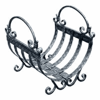 Дровница Кованая D110S серебро