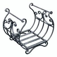 Дровница Кованая D120S серебро