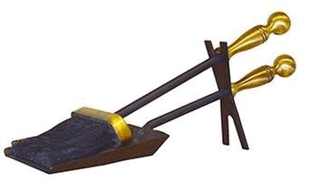 Набор каминный D20001BK (совок,щетка,черный)