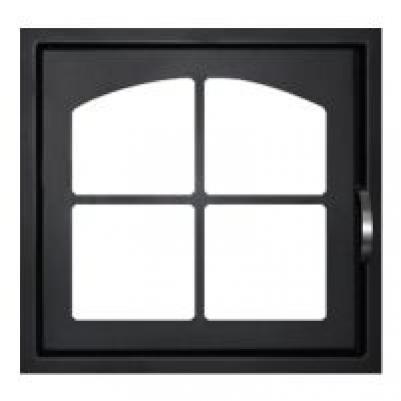 Дверка каминная ДК555-1К сталь Мета