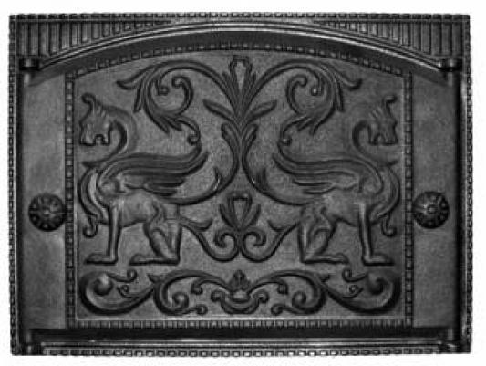 Дверка каминная крашеная с рисунком ДК-2(RLK325) (Рубцовский литейный комплекс)