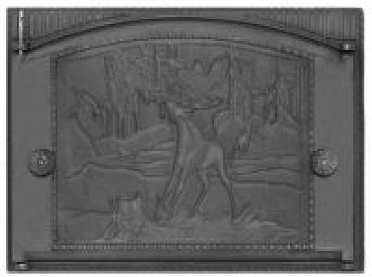 Дверка каминная крашеная с рисунком ДК-2(RLK335) (Рубцовский литейный комплекс)