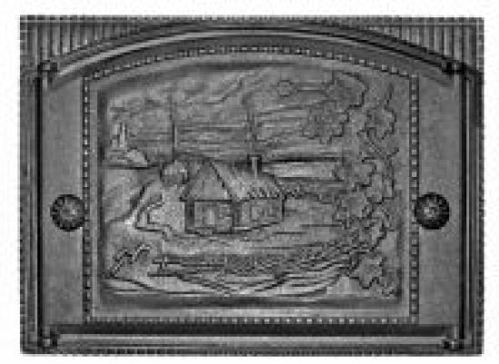 Дверка каминная крашеная с рисунком ДК-2(RLK345) (Рубцовский литейный комплекс)