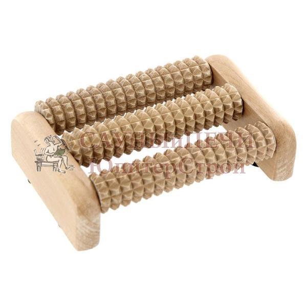 Массажер деревянный для ног, 14*9*4,5см   уп 10,  , 40160, Банные штучки