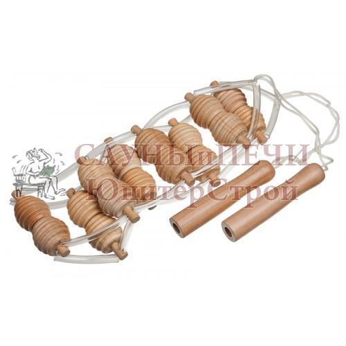 Массажер деревянный ленточный для спины 100*7*3 см   уп15,  , 40071, Банные штучки