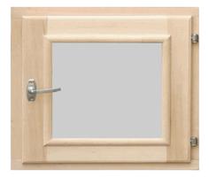 Оконный блок (липа) со стеклом, без фурнитуры. 300х300