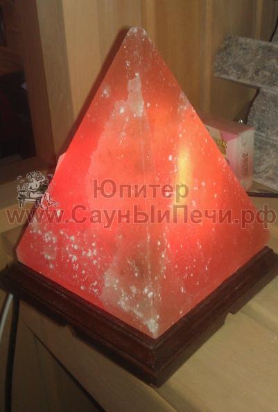 Соляная лампа Пирамида из гималайской соли, СЛ