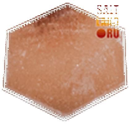 Плитка шестигранник из гималайской соли, 140х25, розовая