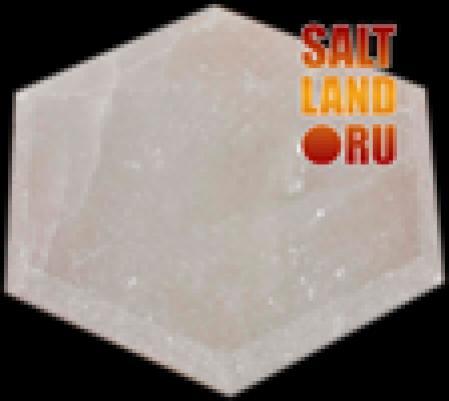 Плитка шестигранник из гималайской соли, 140х25, белая