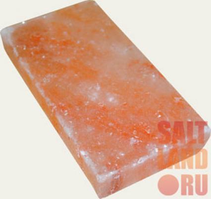 Плитка из гималайской розовой соли, 200х100х25мм, шлифованная со всех сторон