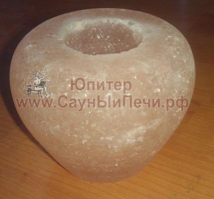 Подсвечник из гималайской соли, форма Яблоко, СЛ