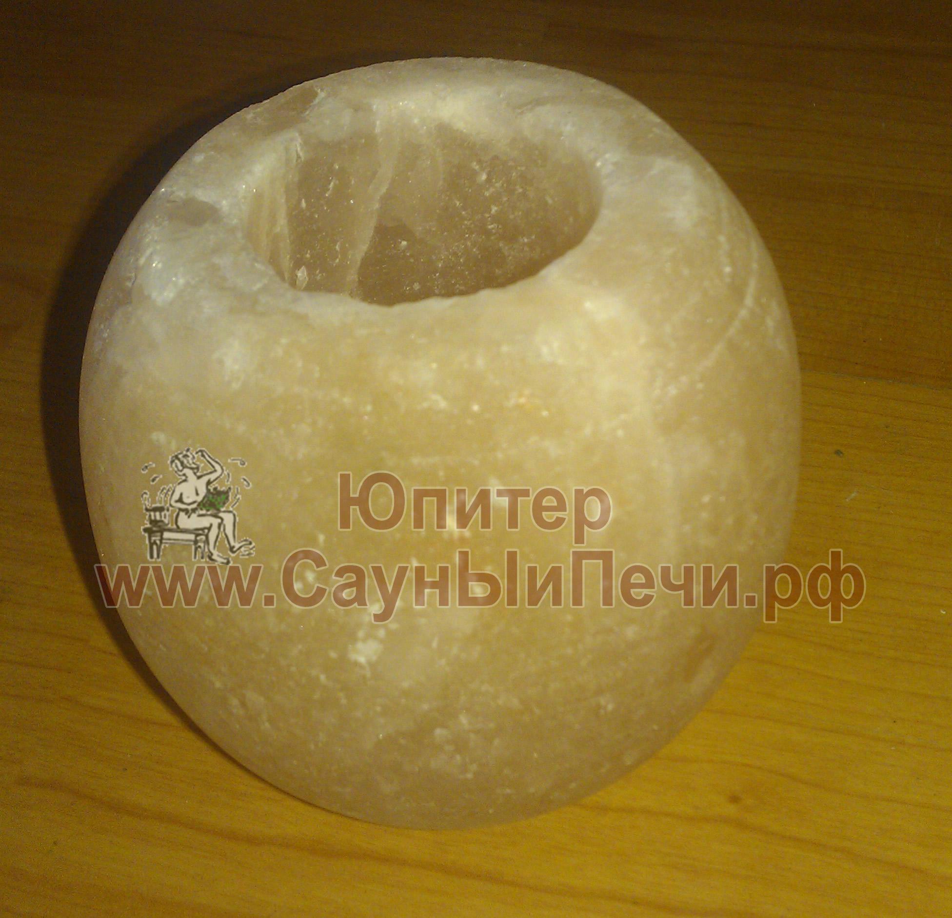 Подсвечник из гималайской соли, форма Шар, СЛ